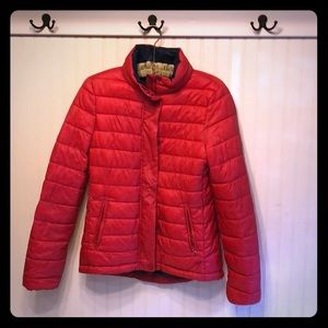 American Eagle red puffer jacket size small